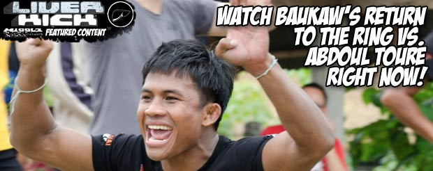 Watch Baukaw's return to the ring Vs. Abdoul Toure right now!