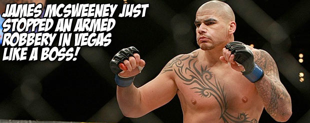 James McSweeney just stopped an armed robbery in Vegas like a boss!