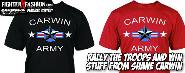 Rally the troops and win stuff from Shane Carwin