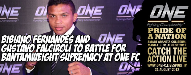 Bibiano Fernandes and Gustavo Falciroli to Battle for Bantamweight Supremacy at One FC: Pride of a Nation
