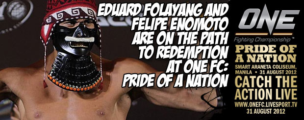 Eduard Folayang and Felipe Enomoto Are on the Path to Redemption at One FC: Pride of a Nation