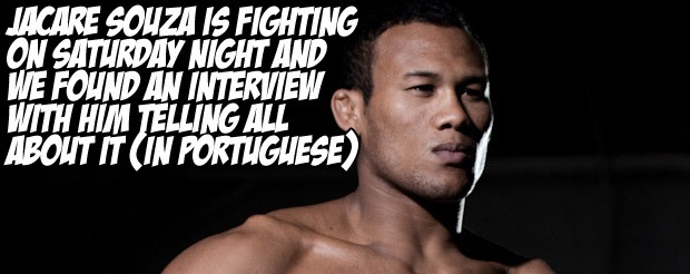 Jacare Souza is fighting on Saturday night and we found an interview with him telling all about it (in Portuguese)