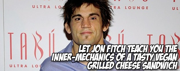 Let Jon Fitch teach you the inner-mechanics of a tasty vegan grilled cheese sandwich