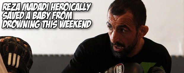 Reza Madadi heroically saved a baby from drowning this weekend