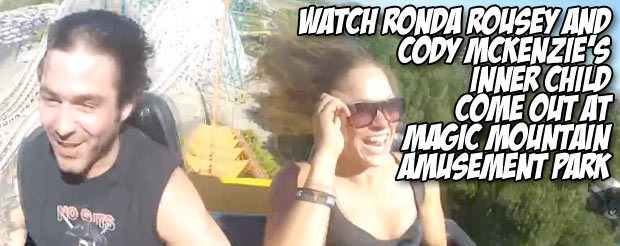 Watch Ronda Rousey and Cody McKenzie's inner child come out at Magic Mountain amusement park
