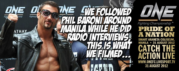 We followed Phil Baroni around Manila while he did radio interviews, this is what we filmed…