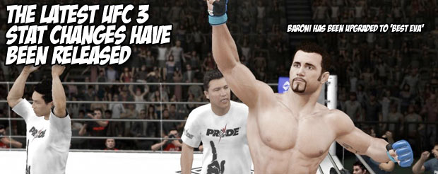 The latest UFC 3 stat changes have been released