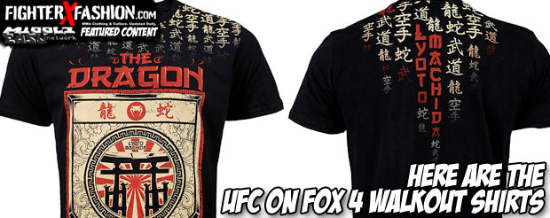 Here are the UFC on FOX 4 walkout shirts