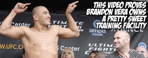 This video proves Brandon Vera owns a pretty sweet training facility