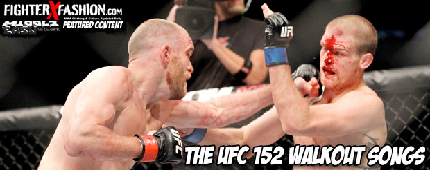 The UFC 152 walkout songs