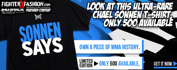 Look at this ultra-rare Chael Sonnen T-shirt, only 500 available