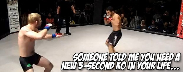 Someone told me you need a new 5-second KO in your life…