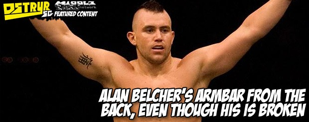 Alan Belcher's armbar from the back, even though his is broken