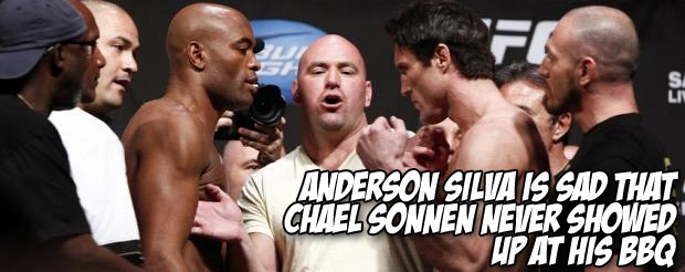 Anderson Silva is sad that Chael Sonnen never showed up at his BBQ
