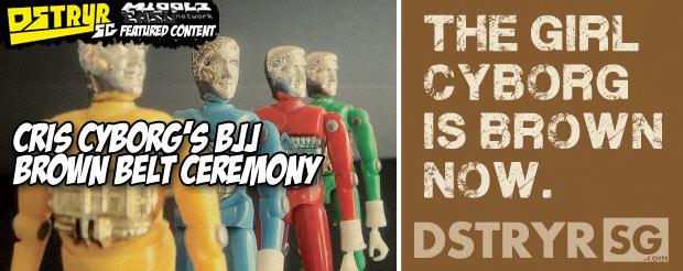 Cris Cyborg's BJJ brown belt ceremony