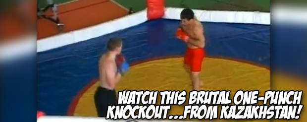 Watch this brutal one-punch knockout…from Kazakhstan!