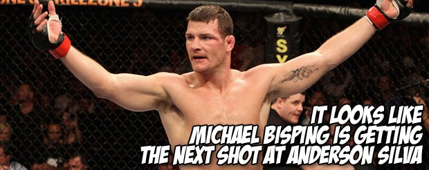 So it looks like Michael Bisping is getting the next shot at Anderson Silva