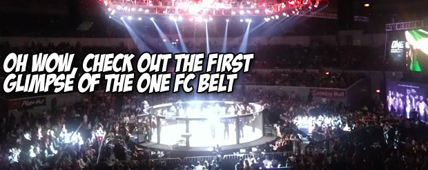 Oh wow, check out the first glimpse of the ONE FC belt