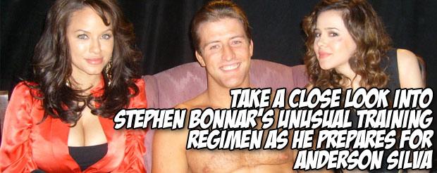 Take a close look into Stephen Bonnar's unusual training regimen as he prepares for Anderson Silva