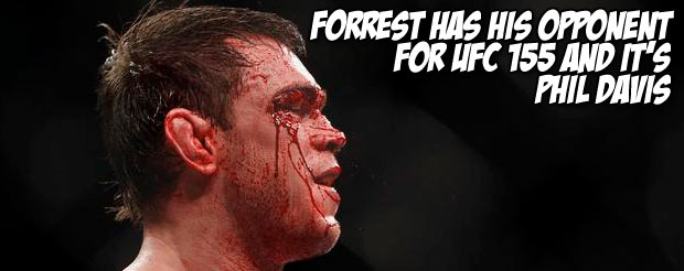 Forrest has his opponent for UFC 155 and it's Phil Davis