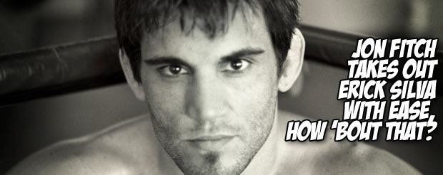 Jon Fitch takes out Erick Silva with ease, how 'bout that?