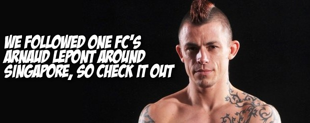 We followed ONE FC's Arnaud Lepont around Singapore, so check it out