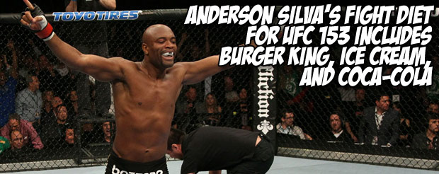 Anderson Silva's fight diet for UFC 153 includes Burger King, ice cream, and Coca-Cola