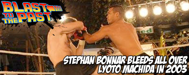 Blast To The Past: Stephan Bonnar bleeds all over Lyoto Machida in 2003