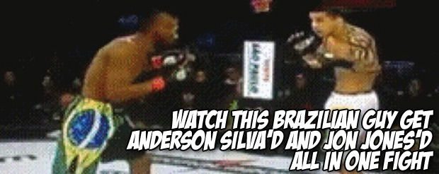 Watch this Brazilian guy get Anderson Silva'd and Jon Jones'd all in one fight