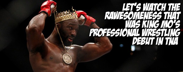 Let's watch the rawesomeness that was King Mo's professional wrestling debut in TNA