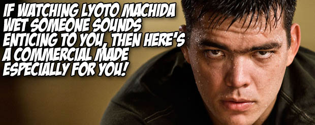 If watching Lyoto Machida wet someone sounds enticing to you, then here's a commercial made especially for you!