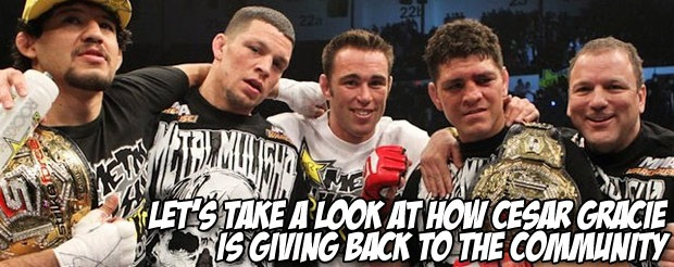 Let's take a look at how Cesar Gracie is giving back to the community