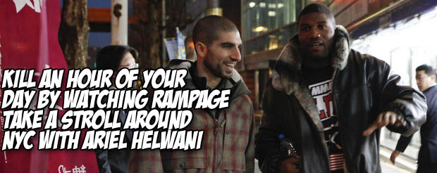 Kill an hour of your day by watching Rampage take a stroll around NYC with Ariel Helwani