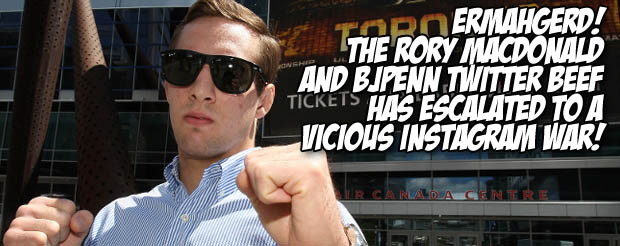 Ermahgerd! The Rory MacDonald and BJ Penn Twitter beef has escalated to a vicious Instagram war!