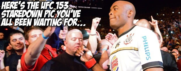 Here's the UFC 153 staredown pic you've all been waiting for…