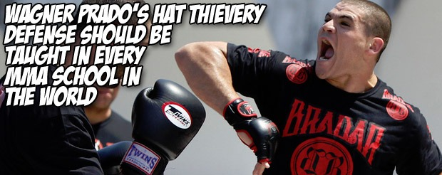 Wagner Prado's hat thievery defense should be taught in every MMA school in the world