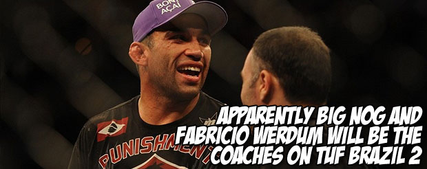 Apparently Big Nog and Fabricio Werdum will be the coaches on TUF Brazil 2