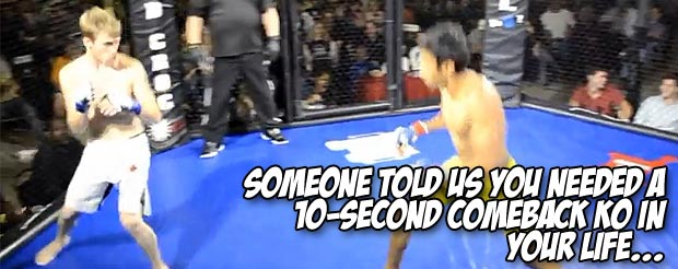 Someone told us you needed a 10-second comeback KO in your life…