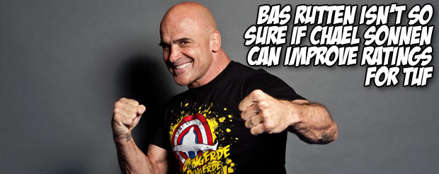 Bas Rutten isn't so sure if Chael Sonnen can improve ratings for The Ultimate Fighter