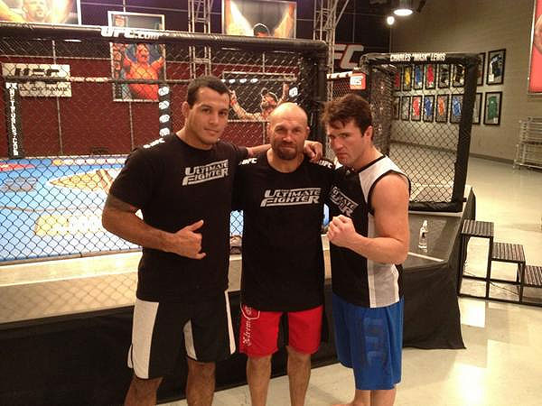 According to this picture, Chael Sonnen's TUF team has already won