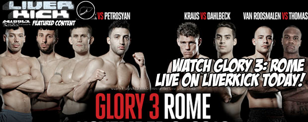 Watch Glory 3: Rome live on LiverKick TODAY!