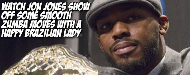 Watch Jon Jones show off some smooth Zumba moves with a happy Brazilian lady