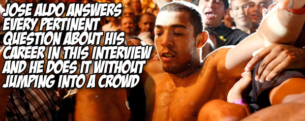 Jose Aldo answers every pertinent question about his career in this interview and he does it without jumping into a crowd