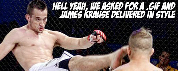 Hell yeah, we asked for a .gif and James Krause delivered in style