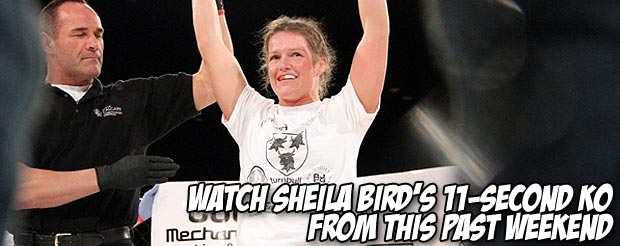 Watch Sheila Bird's 11-second KO from this past weekend