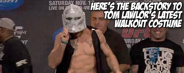 Here's the backstory to Tom Lawlor's latest walkout costume