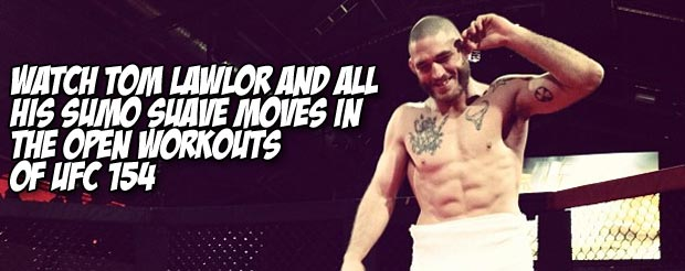 Watch Tom Lawlor and all his Sumo Suave moves in the open workouts of UFC 154