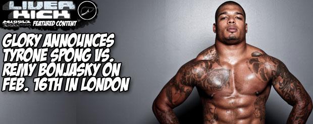 Glory announces Tyrone Spong vs. Remy Bonjasky on Feb. 16th in London