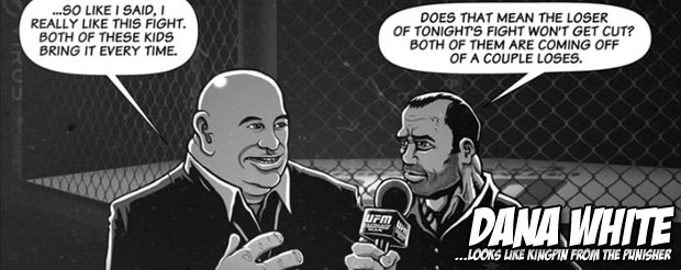 Dana White and Joe Rogan in a comic book? Sure, we'll read it…