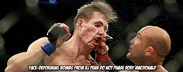 Rory MacDonald was calm, cool and collected after decimating his teenage 'hero' BJ Penn